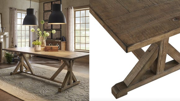Give some rustic vibes to your dining room.