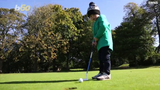 Little George Hughes skipped the mini-golf and is taking on the real links.