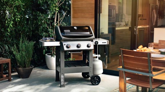 The Weber is a grillmaster's dream.