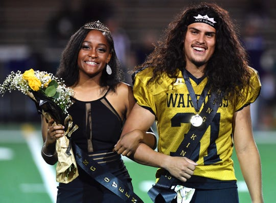 Tavia Wilson and Jorge Hernandez were chosen by Abilene High School students as the 2019 homecoming queen and king at Friday night's football game at Shotwell Stadium. They are seniors.