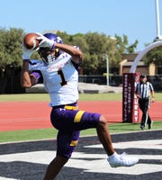 Brenton Martin, who had one touchdown catch in three games, caught his second 2:16 into Saturday's game against McMurry, toeing the end zone line. The 15-yard catch came on his team's first offensive play.