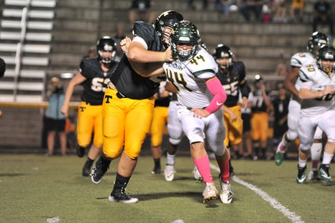 Reynolds defeated Tuscola 51-0 in a high school football game Oct. 4, 2019, at Tuscola.