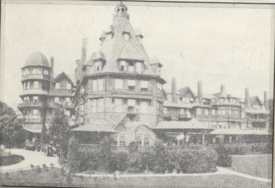 THE OLD BATTERY PARK HOTEL WAS BUILT IN 1886 BY COL. FRANK COXE ON BATTERY PARK HILL WHICH ROSE SHARPLY FROM HAYWOOD STREET, PATTON AVENUE AND FRENCH BROAD AVENUE.  THE OLD BUILDING WAS RAZED IN 1922 AND DIRT FROM BATTERY PARK HILL WAS USED TO FILL IN BOTH SIDES OF COXE AVENUE.  FLASHBACK COLUMN- 3-23-1986