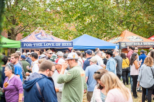 Asheville held its annual Oktoberfest Oct. 5, 2019, at Pack Square Park.