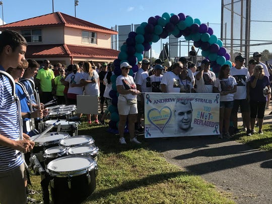 Hannah's Heroes holds suicide awareness walk in Titusville at Chain of Lakes Park.