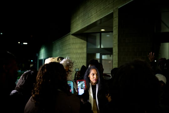 Former juvenile court judge Tracie Hunter leaves the Hamilton County Justice Center in downtown Cincinnati Saturday, October 5, 2019. Hunter served 75 days in jail.