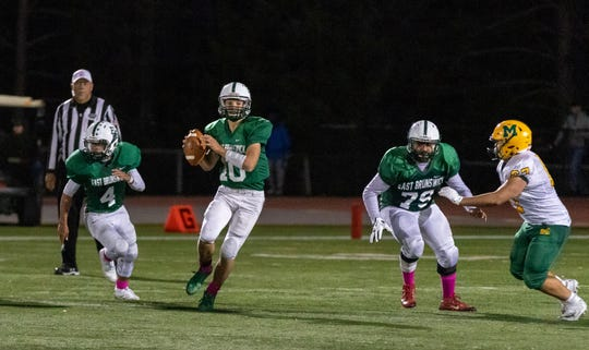 The Montgomery and East Brunswick high school football teams met Friday night at Jay Doyle Field.