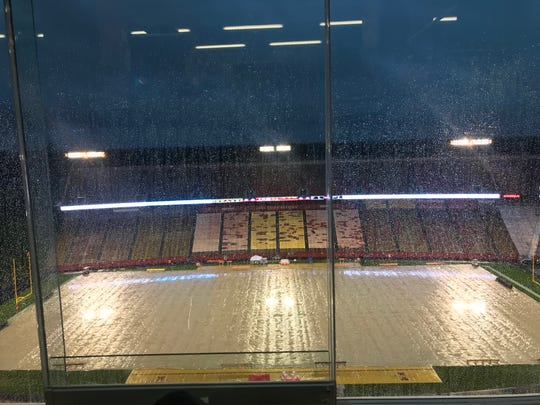 Iowa State's game on Saturday was pushed back to 1 p.m.