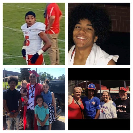 Images provided by Dominic Reidburn's mother show the late teenager as an athlete and with his family in undated photos. Reidburn, 16, died in a car crash in late September.