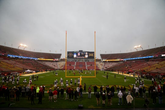 A view of Jack Trice Stadium from the north end zone before Iowa State's game on Oct. 5, 2019.