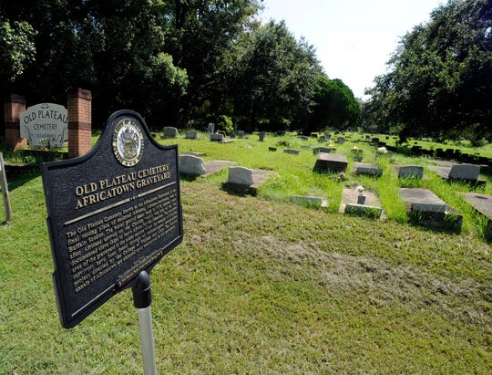 The cemetery that holds remains of the Africans who were brought to the United States aboard the slave ship Clotilda in 1860 in Mobile, Ala.