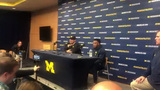 Michigan coach Jim Harbaugh discusses the offense after the 10-3 win over Iowa