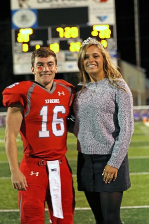 Alex Baez and Hannah Paeth were crowned Homecoming King and Queen at SJCC's game against Danbury on Friday.