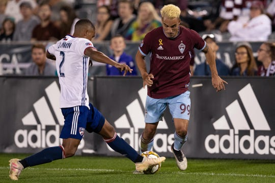 The Colorado Rapids play at LAFC on Sunday.