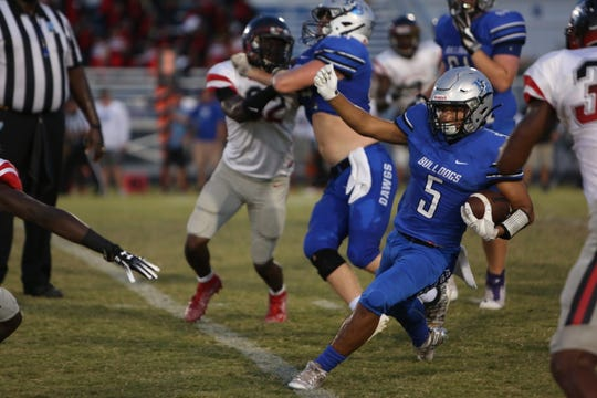 Ida Baker's Vitico Mieses. Ida Baker played host to South Fort Myers for their Homecoming game on Friday, Oct. 4.