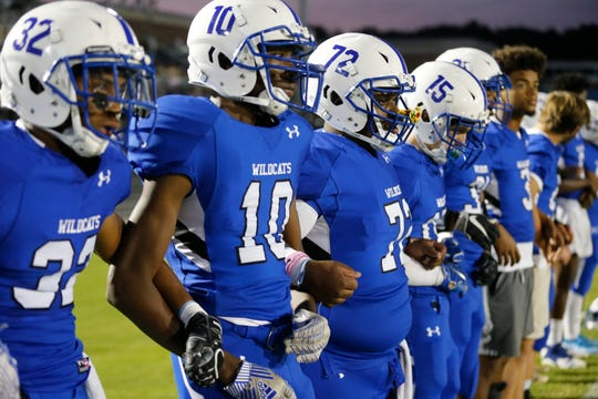 Woodmont High hosts JL Mann High Friday night football action, October 4, 2019.