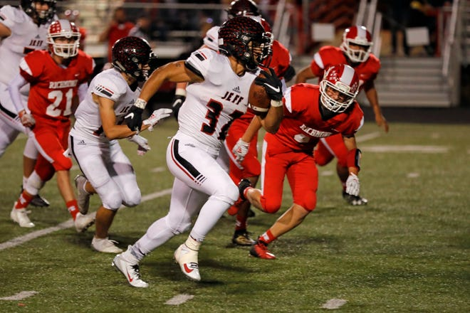 Marquis Munoz set Lafayette Jeff's career rushing yards and total points records in a victory over Richmond.