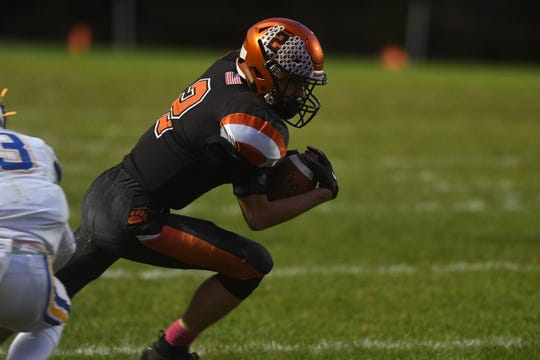 Last week, Lucas' Carson Hauger scored four touchdowns three different ways with two receiving, one kickoff and one interception return for a score as the Cubs are tied with Mansfield Senior for the No. 1 spot in this week's Power Poll.
