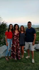 From left to right, Olivia, Ann, Sydney and Scott Schertzer.