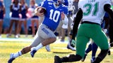 MTSU players talk about the Blue Raiders conference opening win over MTSU.