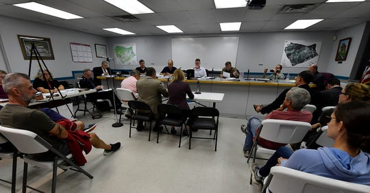The Hellam Township board of supervisors holds a hearing on a proposed winery and special event center WWBK Real Estate Holdings wants to build near the Hallam Borough line, Thursday, October 3, 2019
