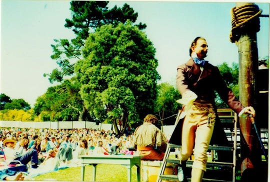 "Actor John Balma as Malvolio in ""Twelfth Night"" at the San Francisco Shakespeare Festival in 1993."