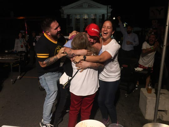 Chef Eleazar Mondragon celebrates with family after winning the 2019 Battle for the Golden Fork.