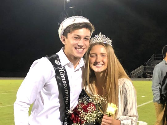 Gabe LaGrua and Ashtyn Davis were Wilson Memorial's king and queen of homecoming.
