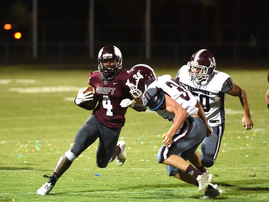 Jo'-el Howard was one of seven Stuarts Draft players who was named to the first team all-Region 2B football team.