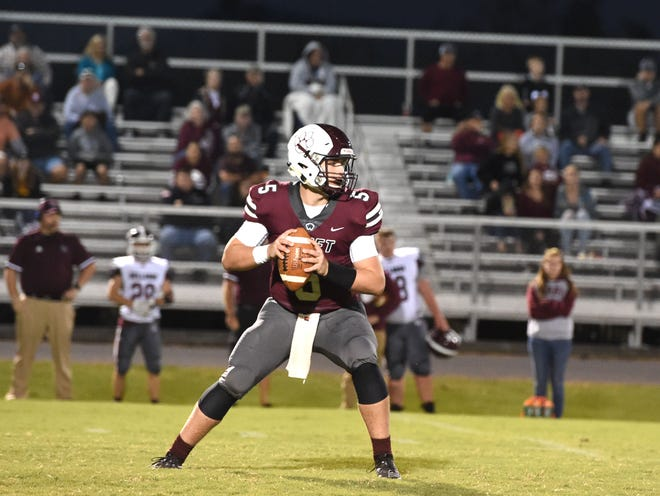 Stuarts Draft's Henry Cooke threw for 269 yards and five touchdowns in a win over Luray Friday.