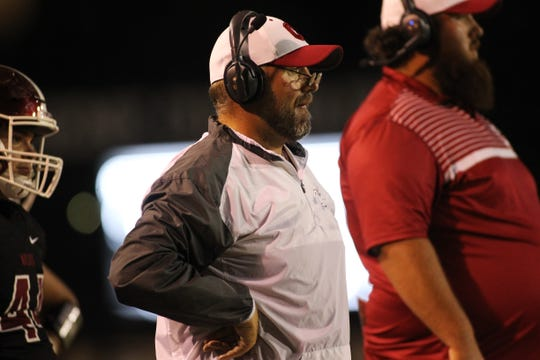 Chiles head coach Kevin Pettis watches as Lincoln beat Chiles 26-14 at Gene Cox Stadium on Friday, Oct. 4, 2019.