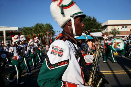 FAMU students, alumni, and fans lined the street to watch the homecoming parade Saturday, Oct. 5, 2019.