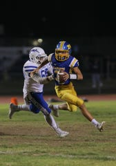 Leeram Stoneman passed for 249 yards and five TDs and ran for 94 yards on six carries in Nordhoff's first-round win.