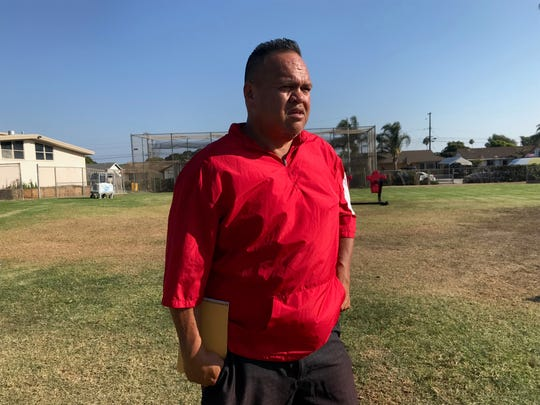 Hueneme High football head coach Lui Toilolo stepped down on Friday night, due to health concerns.