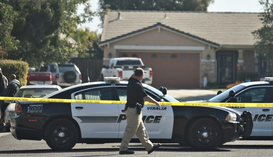Visalia police investigate a deadly shooting on Saturday, October 5, 2019.