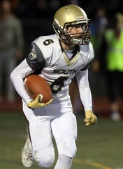 Rye defeats Clarkstown South 27-0 during Friday night football game at Rye High School Oct. 4, 2019.