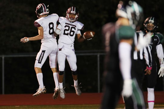 Nyack defeated Yorktown 35-14 in football action at Yorktown High School Oct. 4, 2019.