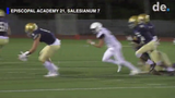 The Sals had their hands full against the Churchmen from Episcopal Academy in Pennsylvania. Salesianum got on the board late to make it a 21-7 final.