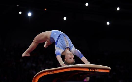 Westlake Legal Group 5228dacb-f40c-40fd-b4d9-742d1dd4ef90-carey-vault Arizona gymnast Jade Carey tops vault qualifying, gets rare 'win' over Simone Biles