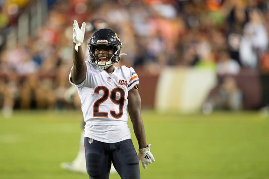 Bears running back Tarik Cohen only rushed five times for 11 yards in Week 4, but he did catch his first touchdown pass of the season.