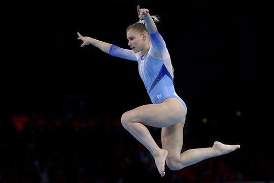 Westlake Legal Group d4bd646d-7e29-4765-9250-e8e5ae46c11b-carey-floor Arizona gymnast Jade Carey tops vault qualifying, gets rare 'win' over Simone Biles