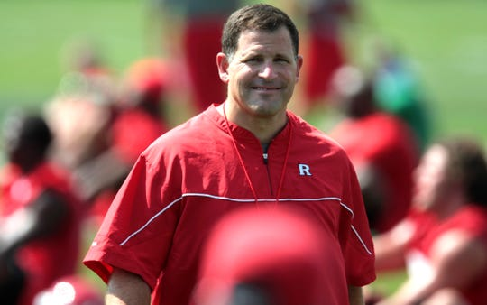 Greg Schiano, on the first day of Rutgers training camp in 2009, figures to be in the mix as athletic director looks to decide on his next head coach