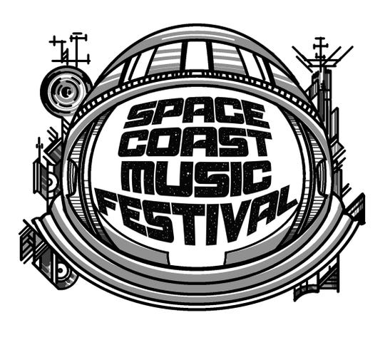 The Space Coast Music Festival logo.