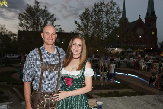 Heath and Lauren Deppen at the second annual Bikers Who Care Oktoberfest at Downtown Commons on Saturday, Oct. 5, 2019.