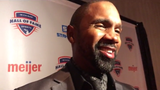 Woodson, the 1997 Heisman Trophy winner, was inducted into the Michigan Sports Hall of Fame on Saturday night.