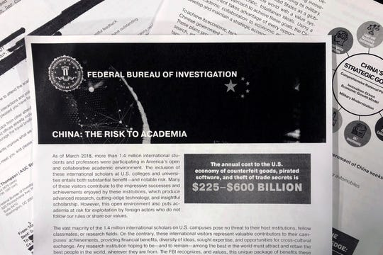 A copy of an FBI pamphlet and related emails.