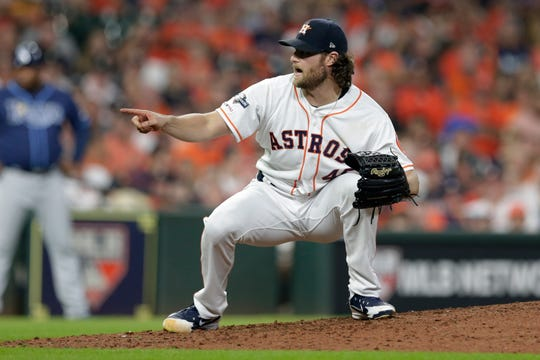 Houston Astros starting pitcher Gerrit Cole struck out 15 in 7.2 innings on Saturday night.