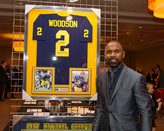 Charles Woodson, a 1997 Heisman Trophy Winner, two-time All-American football defensive back for the University of Michigan who played in the NFL for the Oakland Raiders and Super Bowl champion Green Bay Packers was one of the 2019 Michigan Sports Hall of Fame inductees.