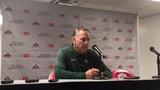 Michigan State coach Mark Dantonio talks about his team's 34-10 loss at Ohio State on Saturday.