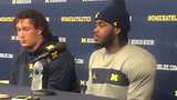 Michigan defensive end Mike Danna on the defense